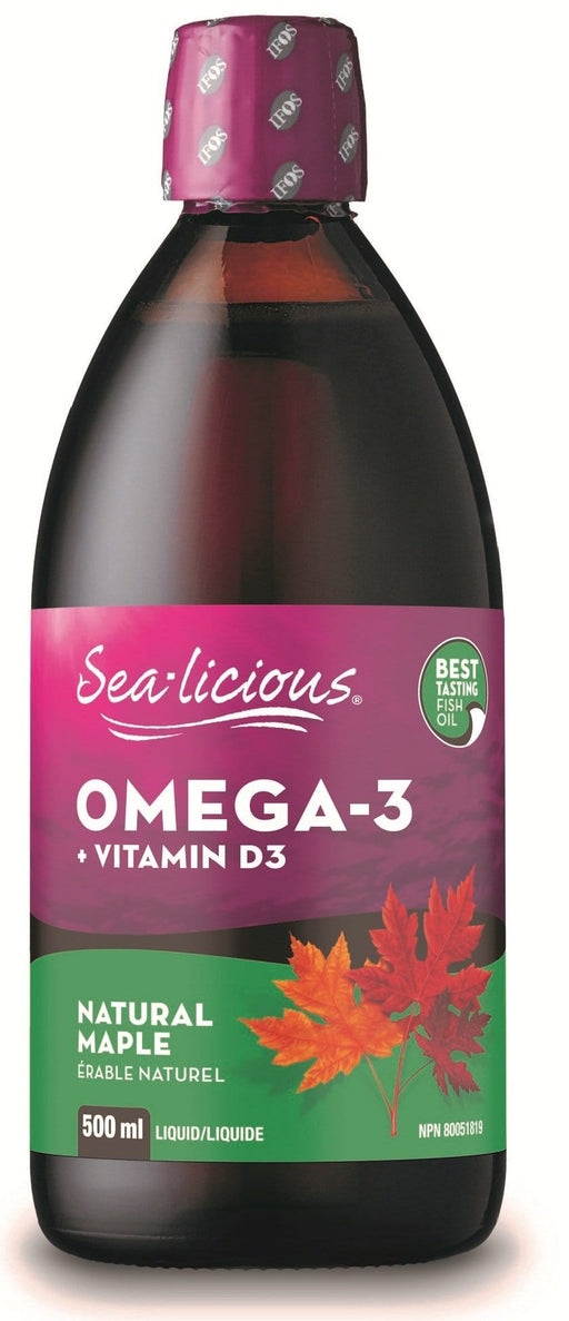 Karlene's Sea-licious Omega-3 with Vitamin D3 Natural Maple