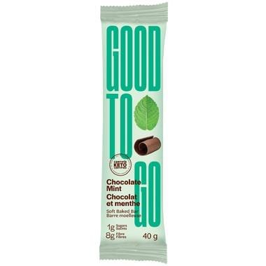 GoodTo Go Chocolate Mint Keto Bar 40 g Single Bar