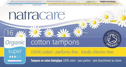 Natracare Organic Super Applicator 16 Tampons