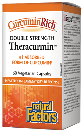 Natural Factors Double Strength CurcuminRich Theracurmin 60 Capsules