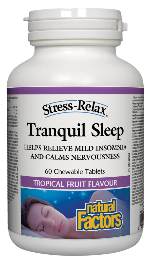 Natural Factors Stress-Relax Tranquil Sleep, 60 Chewable Tablets