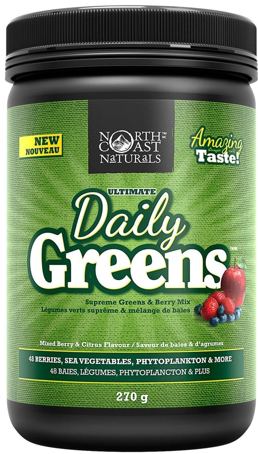 North Coast Naturals Ultimate Daily Greens Mixed Berry & Citrus 270 g
