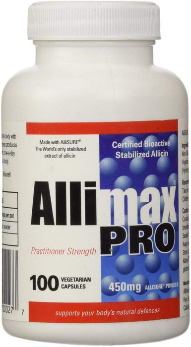 Allimax Pro Stabilized Allicin 450mg 100 Capsules