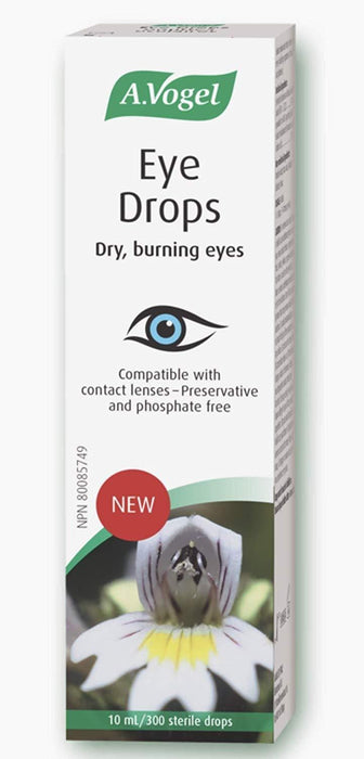 A.Vogel Eye Drops For Dry, Irritated, Tired eyes 10ml NEW