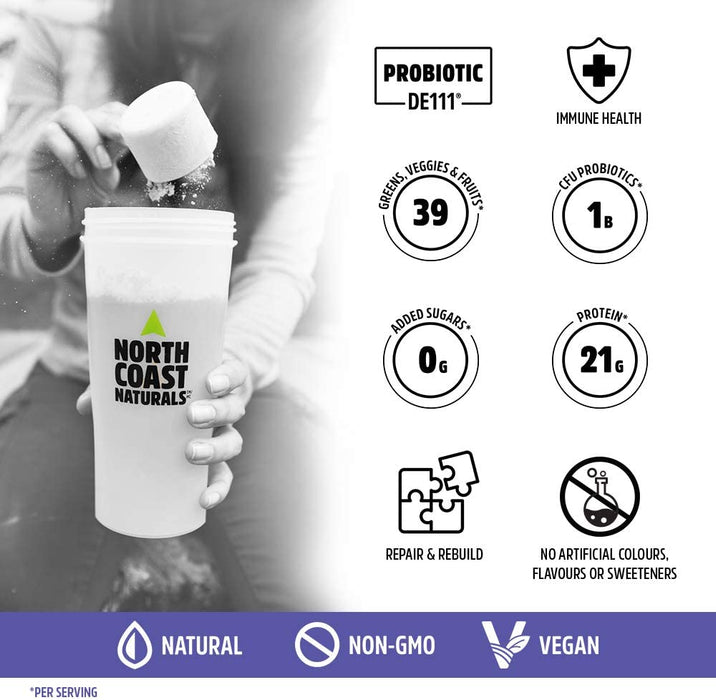 North Coast Naturals Boosted Vegan All In One 840 g - Vanilla