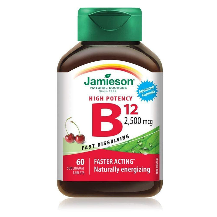 Jamieson High Potency Vitamin B12 2500 mcg 60 Sublingual Tablets