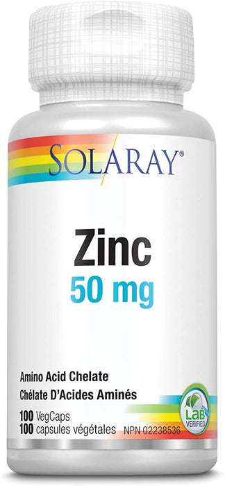Solaray Zinc 50 mg 100 V-Caps