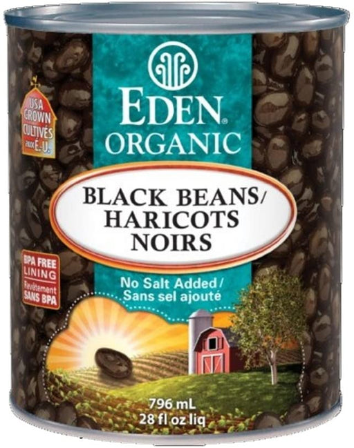 Eden Foods Organic Canned Black Beans 796 ml