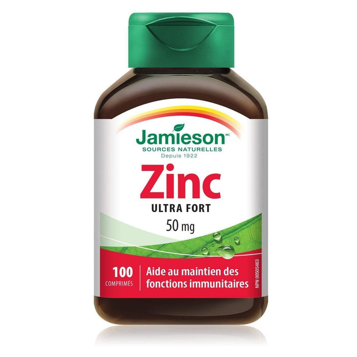 Jamieson Zinc Ultra Strength 50 mg 100 Tablets