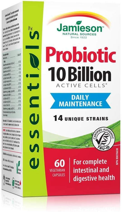 Jamieson 10 Billion Probiotic , 60 Capsules