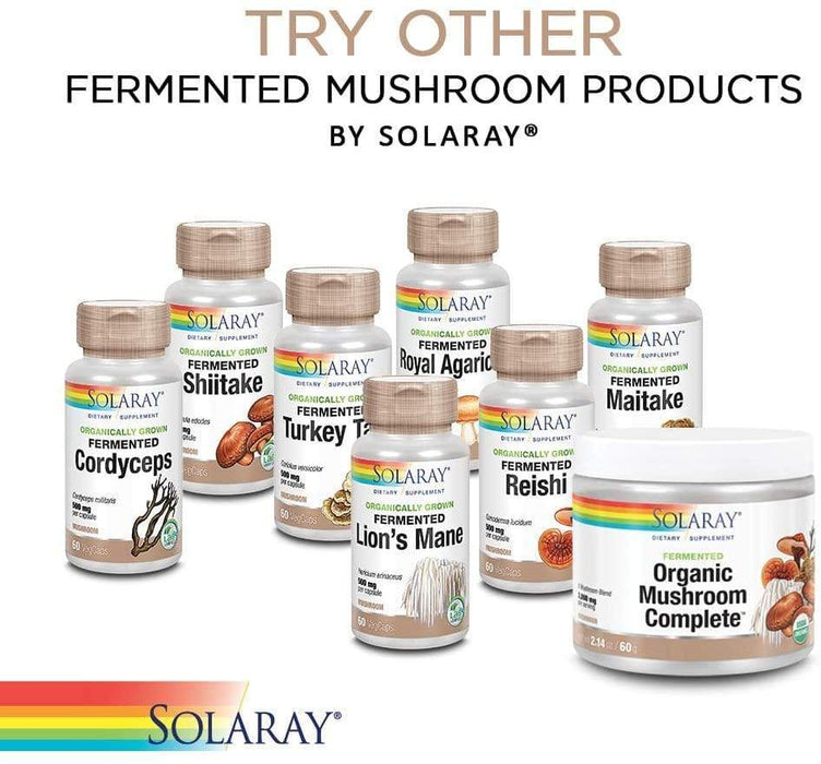 Solaray Organically Grown Chaga Mushroom 500 mg 60 V-Caps