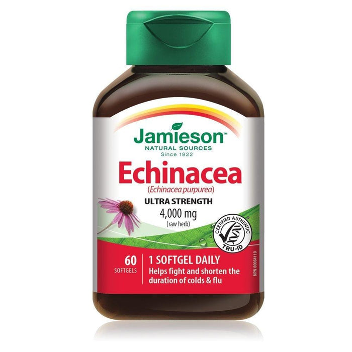 Jamieson Echinacea Ultra Strength 4000 mg 60 Softgels