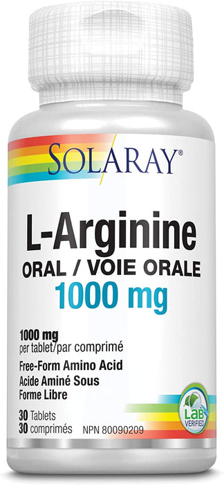 Solaray L-Arginine 1000 mg 30 Tablets