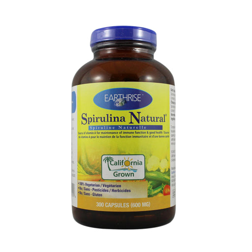 Earthrise Spirulina Natural 600 mg 	300  Capsules
