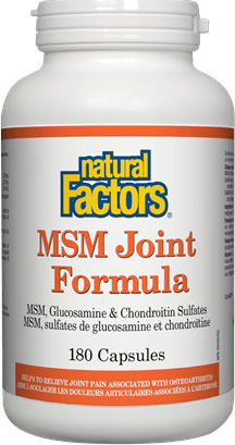 Natural Factors MSM Joint Formula 180 Capsules