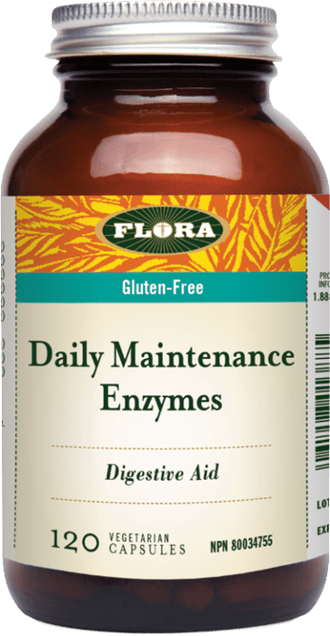 Flora Daily Maintenance Enzymes 120 Capsules