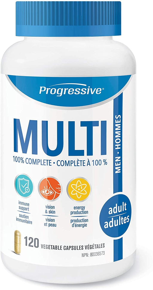 Progressive Adult MultiVitamin for Men 120 Capsules