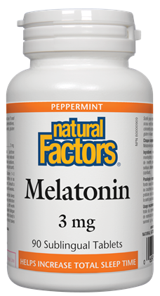 Natural Factors Melatonin 3 mg 90 Sublingual Tablets