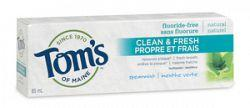 Tom's Of Maine Clean & Fresh Fluoride-Free Toothpaste - Spearmint Flavour