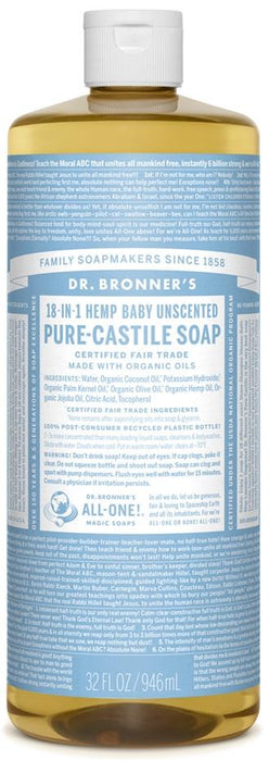 Dr. Bronner's Magic Soap Org Baby-Mild Pure Castile Soap Liq