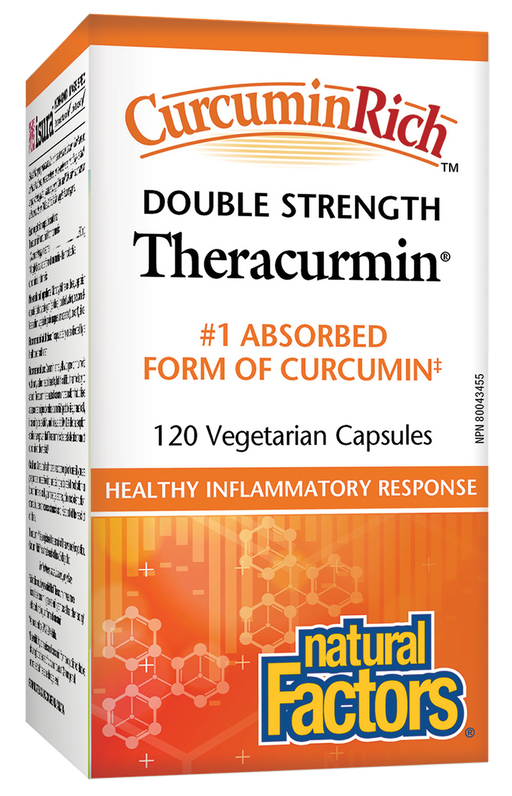 Natural Factors CurcuminRich Double Strength Theracurmin 120 Capsules