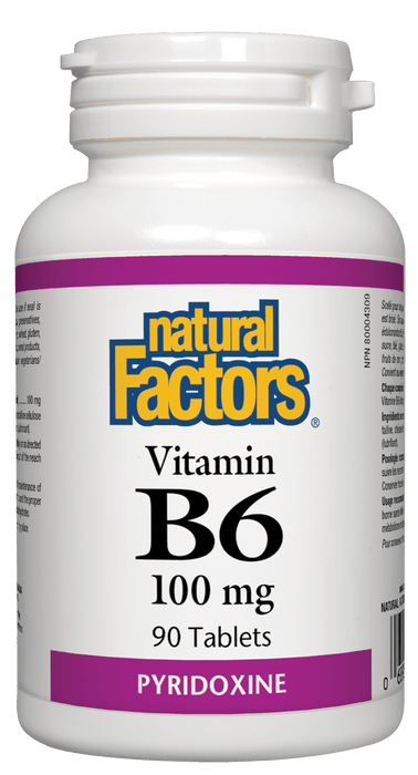 Natural Factors B6 100 mg 90 Tablets