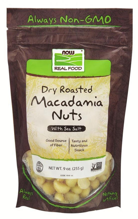 NOW Dry Roasted Macadamia Nuts With Sea Salt
