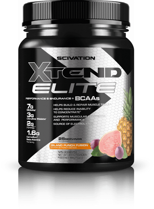 Scivation Xtend Elite BCAAs Island Punch Fusion 25 Servings