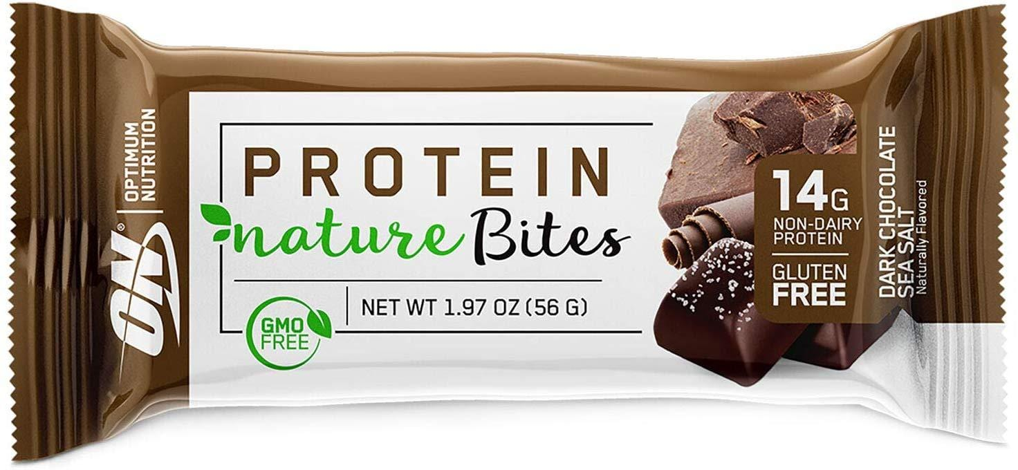 Optimum Nutrition Protein Nature Bites Dark Chocolate Sea Salt 56 g Single Bar