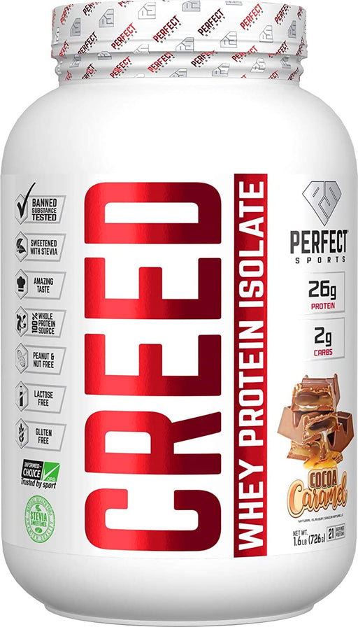 Perfect Sports Creed Whey Protein Isolate - Cocoa Caramel 1.6 Lb (726 g)