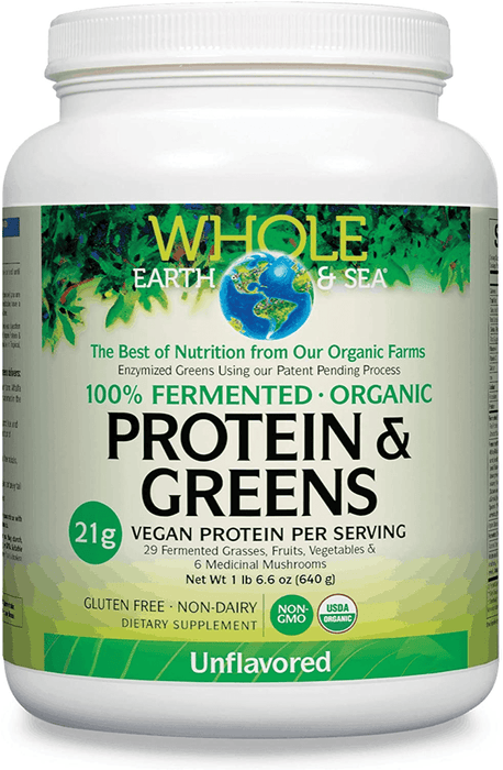 Whole Earth & Sea Fermented Organic Protein & Greens, Unflavoured