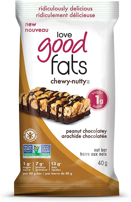 Love Good Fats Chewy-Nutty Peanut Chocolatey