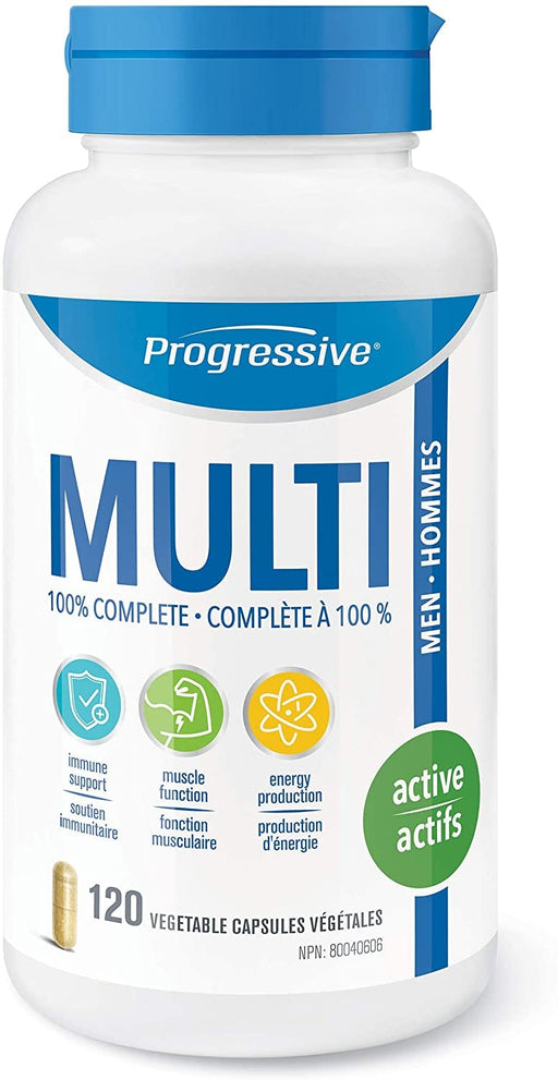 Progressive MultiVitamin for Active Men 120 Capsules