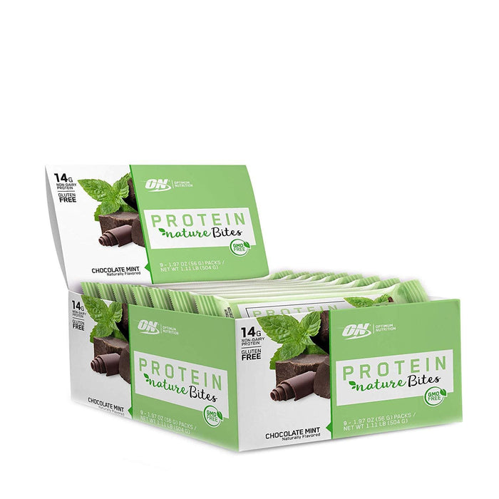 Optimum Nutrition Protein Nature Bites Chocolate Mint 9 x 56 g