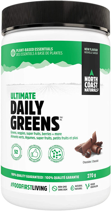 North Coast Naturals Ultimate Daily Greens Chocolate 270 g