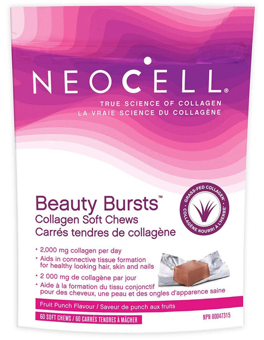 NeoCell Beauty Bursts Fruit Punch Flavour 60 Collagen Soft Chews