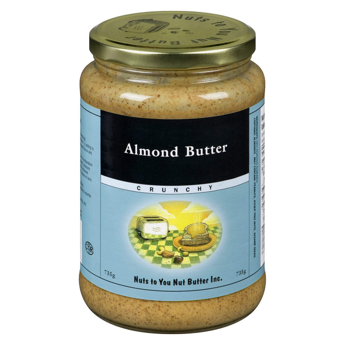 Nuts to You Nut Butter Almond Butter - Crunchy 735 g (Short Dated)