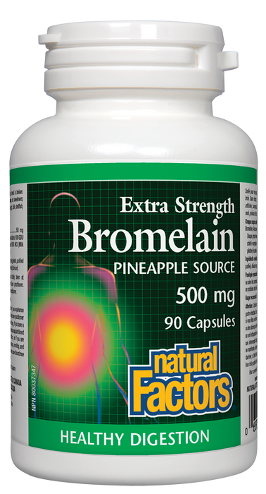 Natural Factors Bromelain 500 mg 90 Capsules