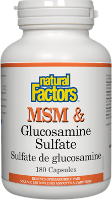 Natural Factors MSM & Glucosamine Sulfate 180 Capsules