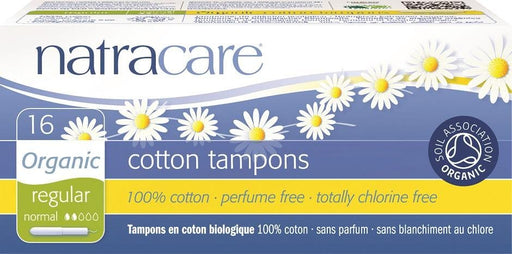 Natracare Organic Regular Cotton Tampons with Applicator 16 Count