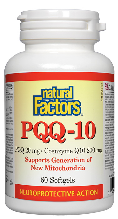 Natural Factors PQQ 20 mg · Coenzyme Q10 200 mg