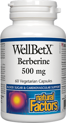 Natural Factors WellBetX Berberine 500mg, 60 Capsules