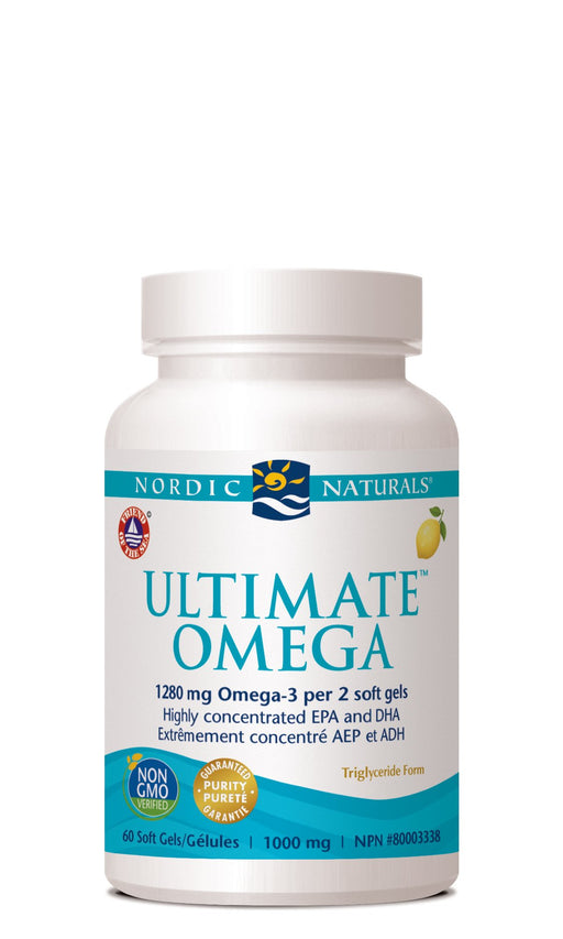 Nordic Naturals ULTIMATE OMEGA - Lemon Flavour 60 Softgels
