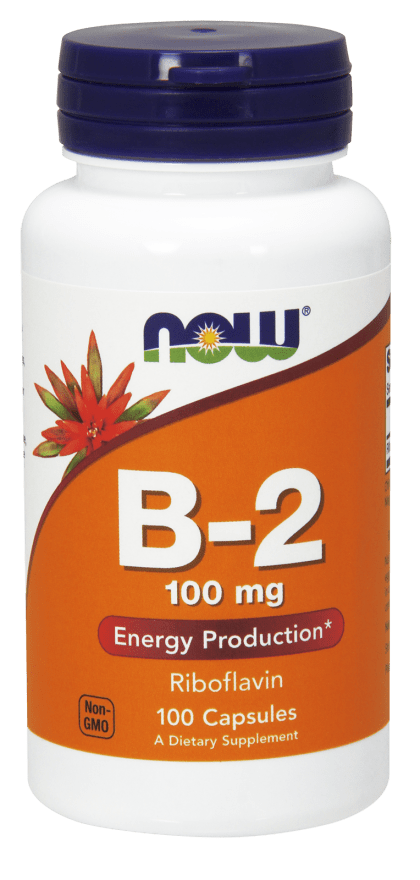 NOW Vitamin B2 Riboflavin 100 mg 100 Capsules