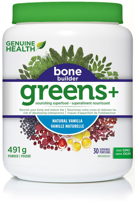 Genuine Health Greens+ Bone Builder - Vanilla