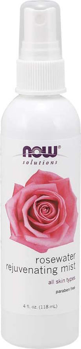 NOW Rosewater Rejuvenating Mist 118 mL
