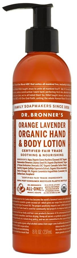 Dr. Bronner's Magic Soap Orange Lavender Organic Lotion