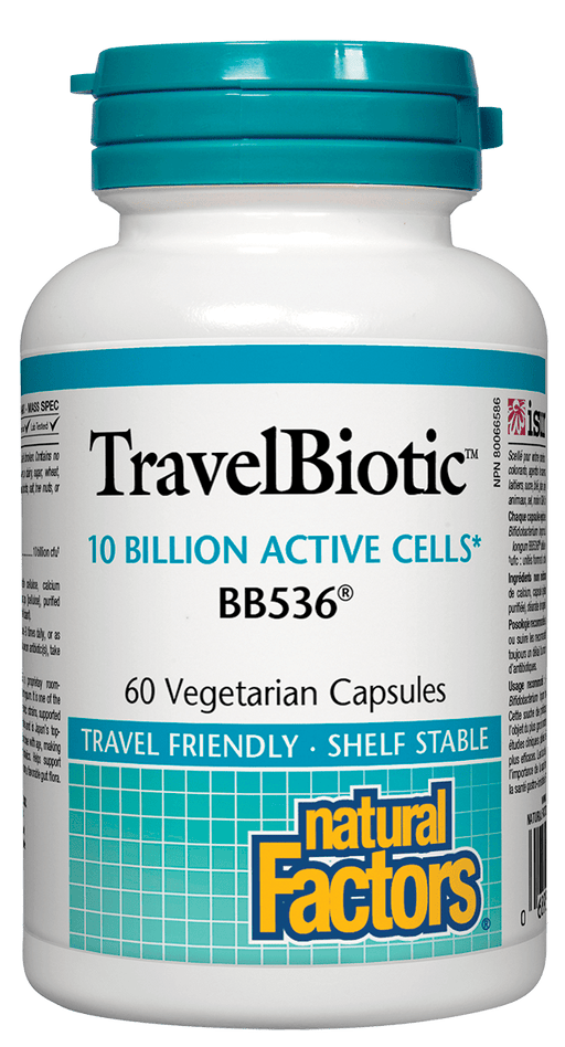 Natural Factors Travel Biotic 10 Billion Active Cells