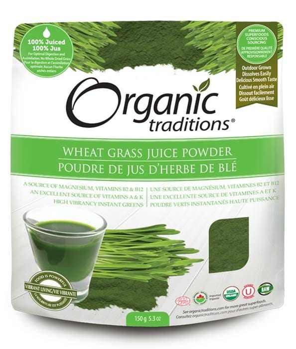 Organic Traditions Certified Organic Wheat Grass Juice Powder