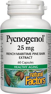 Natural Factors Pycnogenol 25 mg